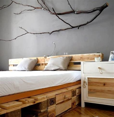 home decor beds pallet bed home decorating tree branches wall decor