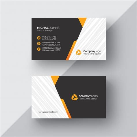 orange and black business card psd design techfameplus black business card with orange details psd file free