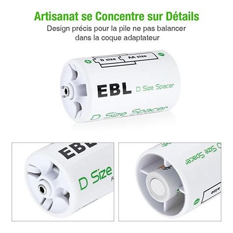 l into battery pack ebl 4 pack durable d battery spacer turn aa batteries into