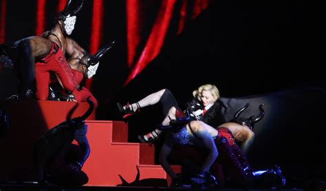Madonnas Televised Appearance by Madonna Fall The Stage At The Brit Awards