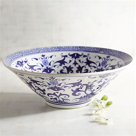 Decorative Ceramic Bowls by Blue White Ceramic Decorative Bowl Goodglance