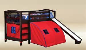 Bunk Bed With Slide And Tent Coaster Gi Child Bunk Bed With Slide And Tent Size