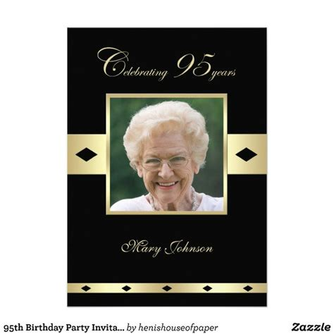 204 Best Images About Milestone Birthday Party Ideas On Pinterest 50th Birthday Invitations 95th Birthday Invitation Templates