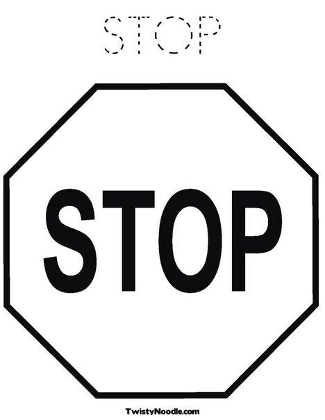 Printable Stop Sign Stop Sign Coloring Pages