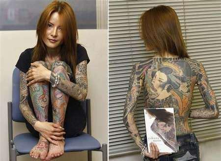 tattoo japanese mafia the daughter of a japanese mafia boss britis motto