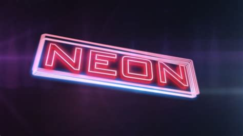after effects tutorial glowing neon text youtube