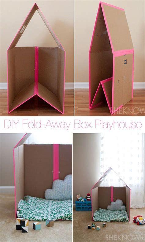 diy projects cardboard boxes diy foldaway cardboard box playhouse i 3