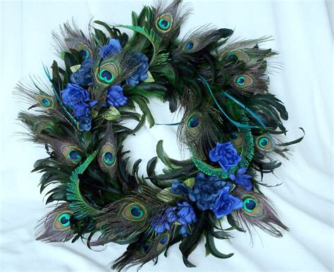 peacock feather decorations home peacock home decor wreath natural feathers by amorevivo on
