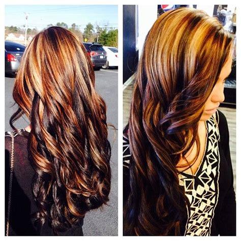 how to darken hair underneath dark chocolate brown underneath with blonde and dark brown