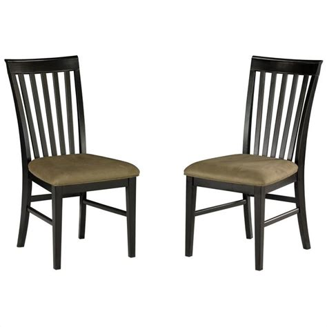 Espresso Dining Chairs Atlantic Furniture Mission Dining Chair In Espresso Set Of 2 Ad771131