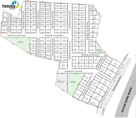 layout plan of township subham samskruthi township in kollur hyderabad price