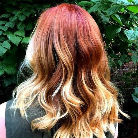 ombre with red and blonde 18 striking red ombre hair ideas popular haircuts