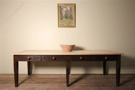 superb large sycamore farmhouse kitchen table antiques atlas