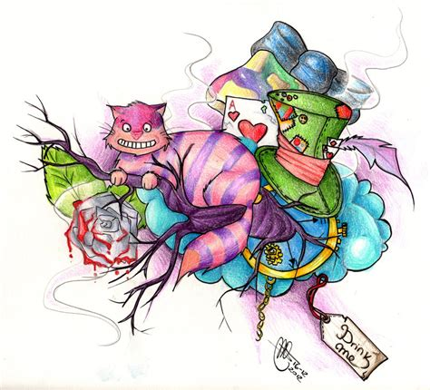 tattoo designs alice in wonderland in tattoos design images style