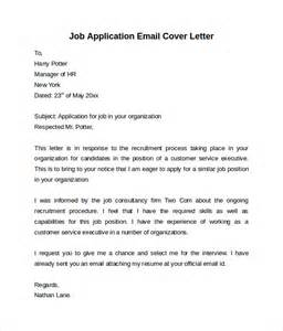 Application Email Cover Letter by Email Cover Letter 7 Free Sles Exles Formats
