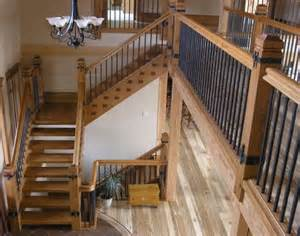 Douglas Fir Stairs by Staircases Douglas Fir Rustic Wrought Iron Spindles
