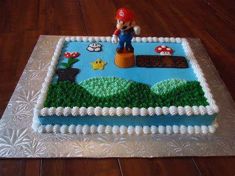 Sheet Cake Decoration by Simple Mario Sheet Cake Cake Decorating Ideas