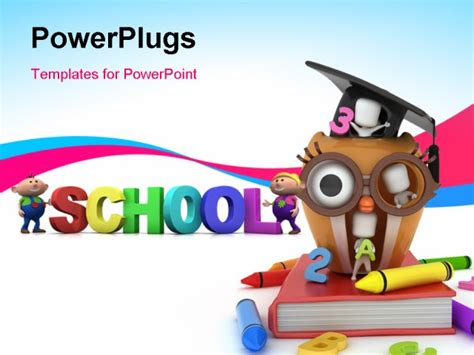 ppt templates for preschool 3d illustration of preschool kids playing in an owl house