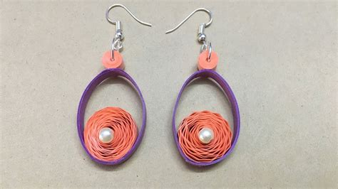 How To Make Easy Paper Earrings At Home - how to make quilling paper earrings using crimper tool
