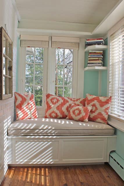 sunroom window seat traditional family room  york