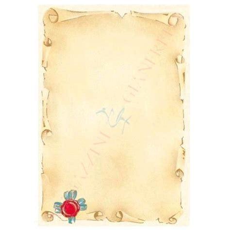 cornici pergamena foglio diploma pergamena a4 avorio con cornice 160gr 10fg