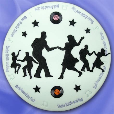 St Cake St Dan Emboss 8mm patchwork cutters jive dancers