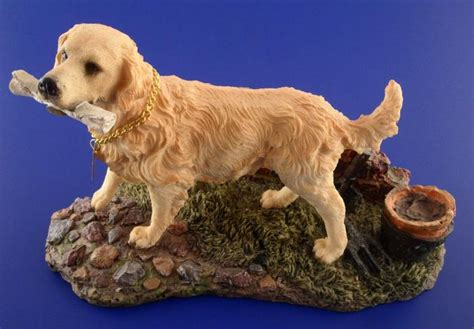 golden retriever figurine golden retriever resin figurine