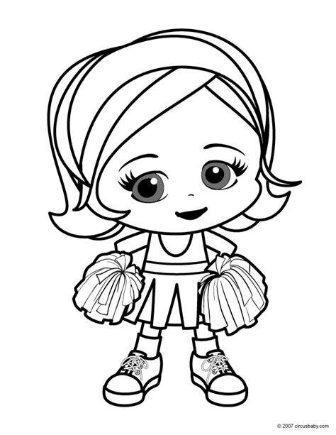 printable cheerleading coloring pages az coloring pages