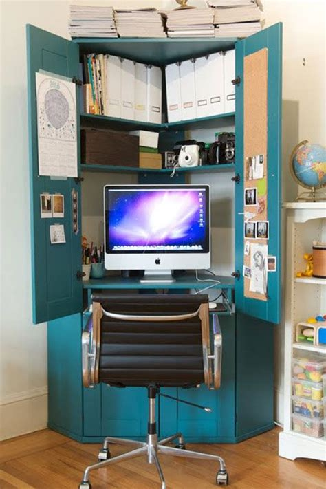 painted computer armoire jordan s tucked in a corner hideaway armoire home office