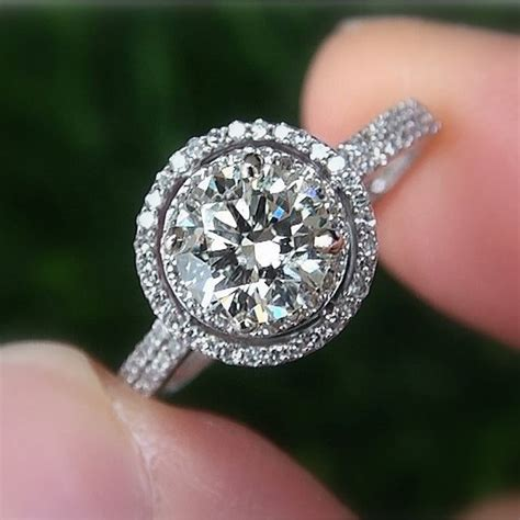 1 00 carat halo pave antique by beautifulpetra