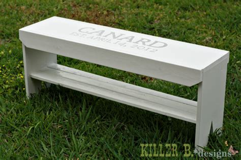 five board bench ana white five board wedding guest book bench diy projects