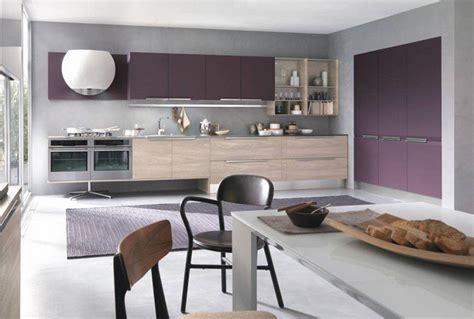 cuisine grise et aubergine couleur pour cuisine 105 id 233 es de peinture murale et fa 231 ade