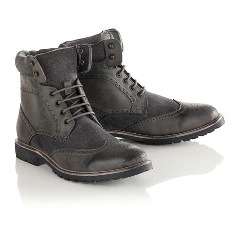s twisted soul grey brogue boot
