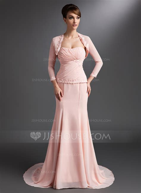lace trumpet mother of the bride dress 98608 evening dresses trumpet mermaid sweetheart court train chiffon mother of