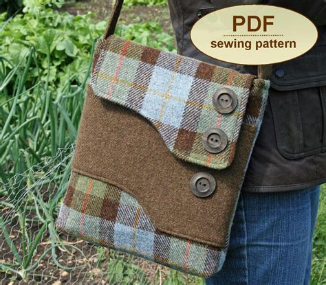 bag making pattern pdf sewing pattern to make the melford messenger bag pdf pattern