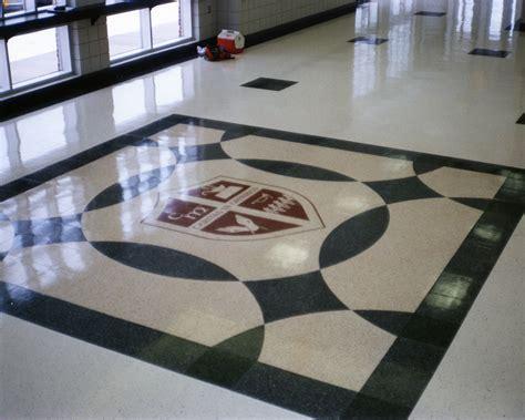 terrazzo design high school foyer floor fritztile terrazzo tile floor