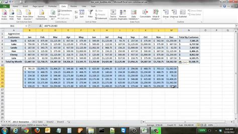 commercial model portfolio exle how to create financial scenarios in excel youtube