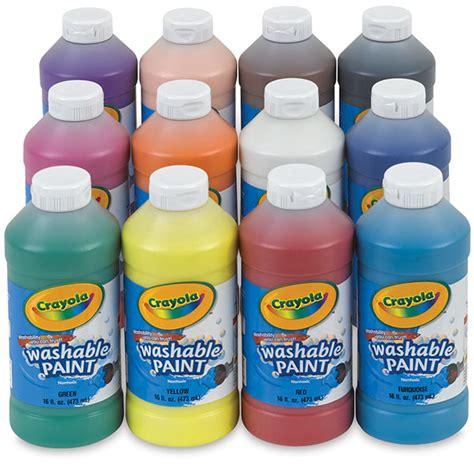 farbe abwaschbar crayola washable paint sets blick materials