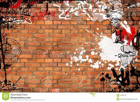graffiti brick wall stock illustration illustration