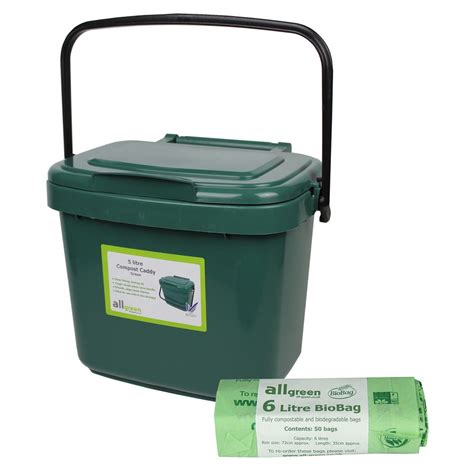 small green kitchen compost caddy 50x biobags food bin