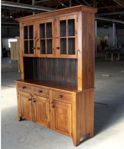 Wood Hutch With Glass Doors 5ft reclaimed barn wood hutch with 3 door glass top