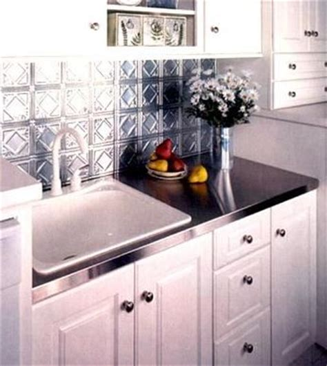 pressed tin backsplash w metal counter everything else