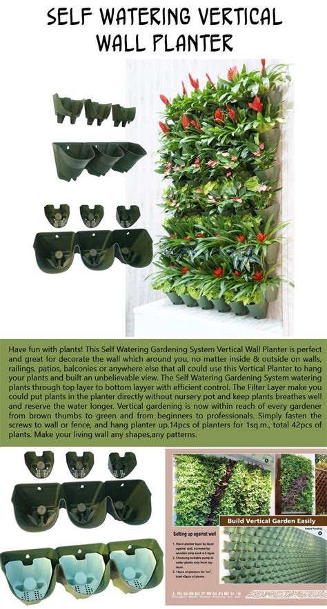 self watering vertical planters top 10 cool garden planters