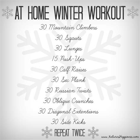 at home winter workout enjoy shop for all your health