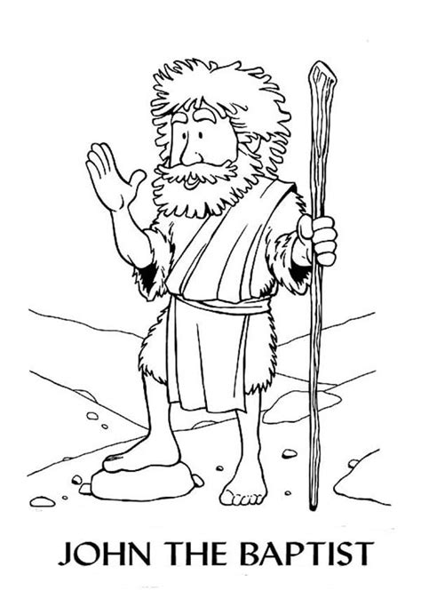 sain john baptist colouring pages
