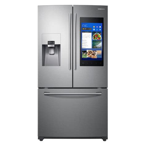 samsung fridge samsung 24 2 cu ft family hub door smart refrigerator in stainless steel rf265beaesr