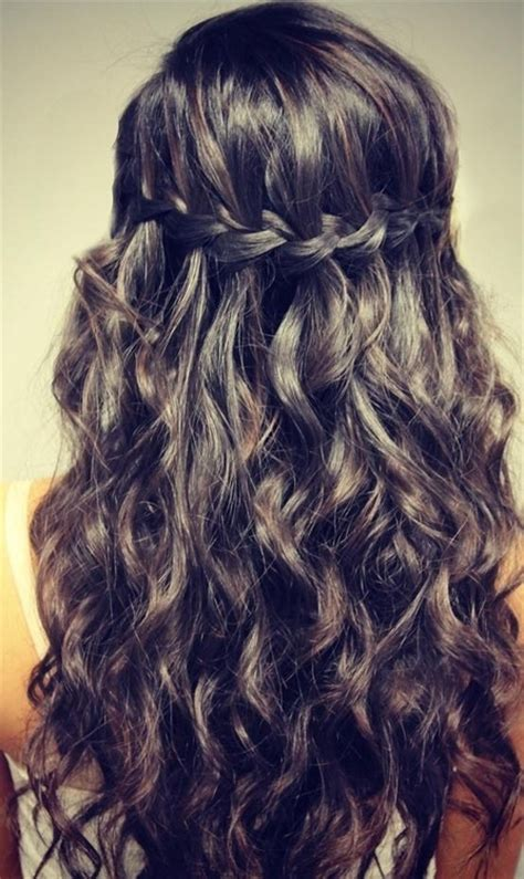 Hairstyles For Evening Gowns Step By Step | curly hairstyles for prom half up half down twist 2018