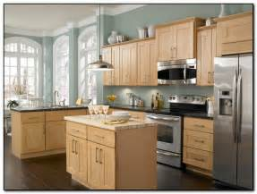 Kitchen Wall Colors With Light Wood Cabinets by Employing Light Color Theme In Kitchen Cabinets Design