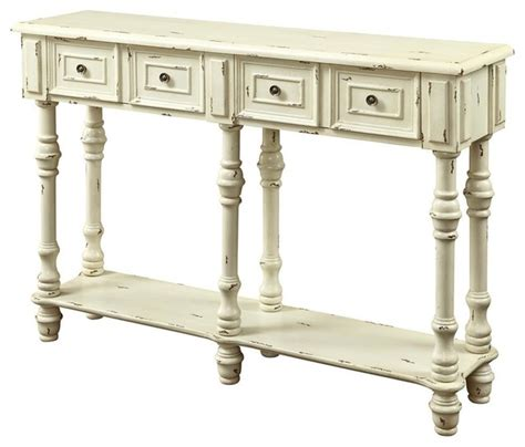 Antique White Console Table Traditional Console Table In Antique White Contemporary Console Tables By Shopladder