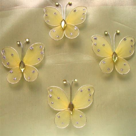Yellow Butterfly Decorations by 100pcs Pale Yellow Butterfly Wedding